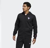 Adidas DAME DOTD FZ 男款黑色連帽運動外套-NO.GP6259