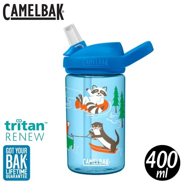 【CamelBak 美國 400ml eddy+Kids兒童吸管運動水瓶RENEW《湖濱動物》】CB2452407141
