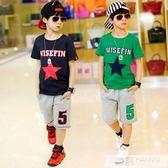 童裝男童夏裝套裝2019兒童韓版中大童男孩短袖t恤夏款夏天兩件套 韓慕精品