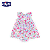 chicco-To Be Baby-花朵洋裝+包屁褲