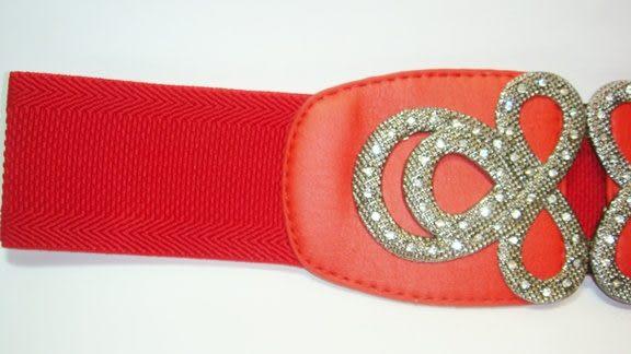 女腰帶 寬版伸縮  如意八八 ( 黑、紅 )