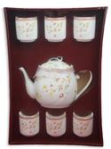 如意骨瓷茶具組六入 結婚用品 吃新娘茶 訂婚奉茶【皇家結婚百貨】