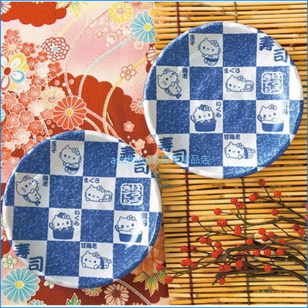 asdfkitty可愛家☆KITTY壽司和風陶瓷小皿2入/醬料碟/點心皿-日本正版商品