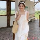 吊帶洋裝白色吊帶連身裙女夏季2021新款法式初戀甜美長裙超仙森系氣質裙子 愛丫