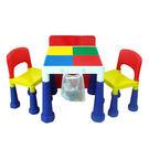 DELSUN 8601N 大象腳積木桌椅組 繽紛彩虹