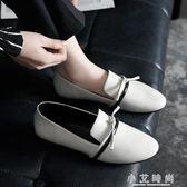 單鞋 春夏學院風chic單鞋女低跟平跟一腳蹬休閒原宿小皮鞋 小艾時尚