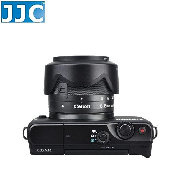 又敗家JJC Canon副廠遮光罩EFM 15-45mm F3.5-6.3 IS STM相容原廠Canon遮光罩EW-53遮光罩EW53太陽罩F/3.5-6.3