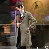 男 拚色/窄版/長版風衣 L AME CHIC 獨家設計款大貼袋拚色長版風衣【 ETCO101201 】