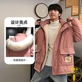 棉衣大碼男冬季連帽棉服棉襖羊羔毛加絨加厚外套【雲木雜貨】
