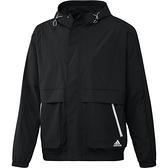 Adidas ST WV PKT 男裝 外套 連帽 可調式帽緣 拉鍊口袋 黑【運動世界】H40211