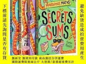 二手書博民逛書店可怕的數學系列4冊套裝罕見英文原版 Murderous Maths 學樂 數學課外輔導讀物 教輔