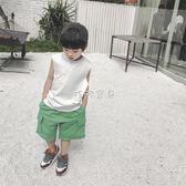 男童背心 兒童背心純棉男童無袖運動上衣 珍妮寶貝