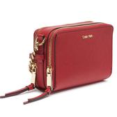 Calvin Klein- 時尚精美鏈狀迷你紅色斜挎包