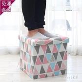 收納凳 儲物凳可坐成人兒童收納箱家用換鞋凳儲藏凳布藝整理箱盒 HX6950【Sweet家居】