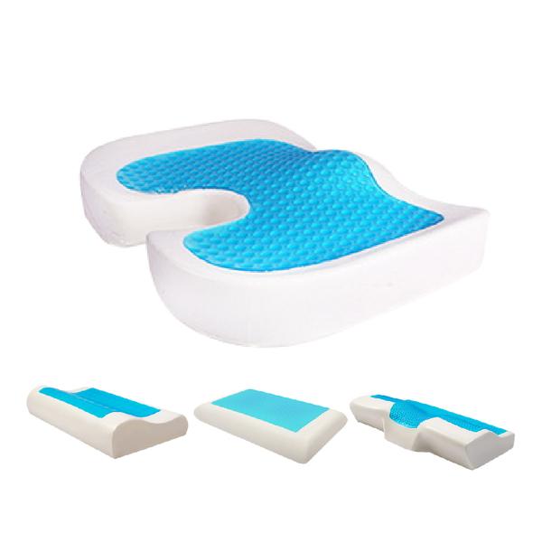 涼感枕頭 涼感記憶枕【免運 實測降2度】冰枕 3D清涼 枕頭 記憶枕 凝膠枕 太空枕 乳膠枕