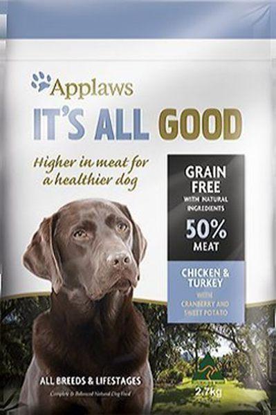 『寵喵樂旗艦店』英國Applaws愛普士 全品種成犬-無穀 雞肉+火雞肉2.7kg