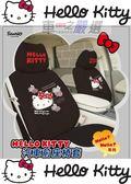 車之嚴選 cars_go 汽車用品【PKTD007B-16】 Hello Kitty 您好Hello系列 汽車前座椅套(2入) 黑色