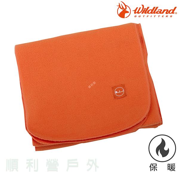 荒野WILDLAND 輕柔PILE保暖圍巾 W2010 橘色 刷毛圍巾 不易產生靜電 OUTDOOR NICE
