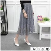 MG 蕾絲半身裙-中長款氣質百搭修身顯瘦半身裙