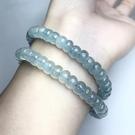 『晶鑽水晶』天然海水藍寶手鍊 寬約7mm...