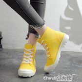 防水靴 下雨天穿的鞋韓國時尚防水雨靴塑膠女式果凍成人中簡防滑學生雨鞋【小天使】