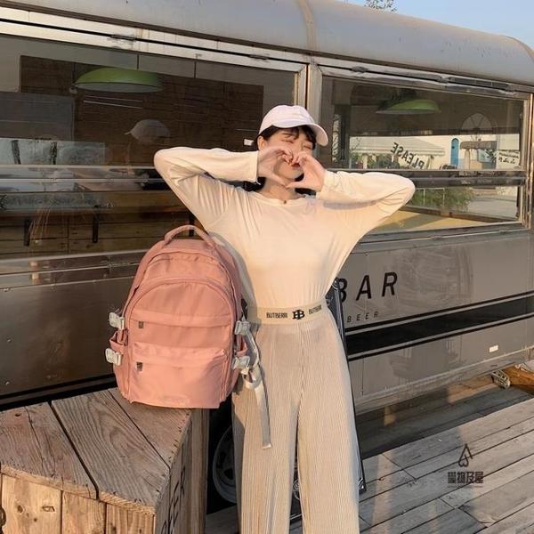 後背包男電腦包雙肩包女大容量書包【愛物及屋】