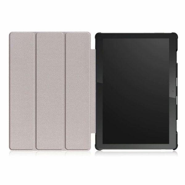 聯想Lenovo Tab M10 10.1吋 平板保護套 防摔 TB-X605F/N 超薄休眠皮套 手機外殼 硬殼 卡斯特 三折