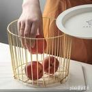 北歐ins風格水果盤客廳茶幾水果籃現代家用鐵藝收納零食盆 qf25222【夢幻家居】
