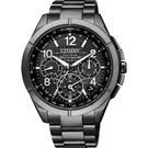 廣告款 CITIZEN 星辰 光動能鈦GPS衛星對時手錶-黑/43mm CC9075-52F
