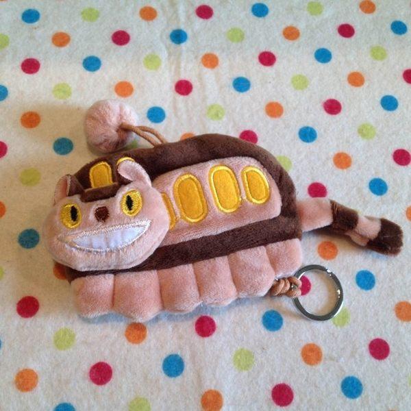 【發現。好貨】宮崎駿龍貓公車鑰匙套魔女宅急便黑貓kiki鑰匙包零錢包毛絨鑰匙圈