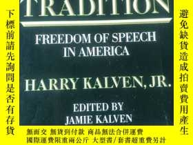 二手書博民逛書店A罕見Worthy Tradition:Freedom of Speech in America ( 英文原版 )
