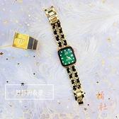蘋果鋼錶帶牛仔鏈合金表帶iwatch5/2/3/4金屬表帶【橘社小鎮】