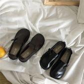 除舊迎新 女鞋新款韓版百搭鞋PU小皮鞋大頭娃娃鞋學生單鞋