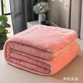 法蘭絨冬被加厚保暖雙人棉被蓋被單人珊瑚絨被子被芯春秋被 qf33796【夢幻家居】