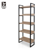 【多瓦娜】日式工業集成2.7尺高書櫃/書架-兩色原木色