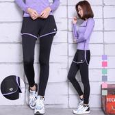 瑜伽服舞蹈跳操健身褲女跑步運動高彈力長褲 +KB79 &小咪的店&