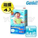 日本 nepia 王子 Genki 元氣超柔紙尿褲/黏貼型尿布 L54片(4包/箱)