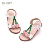 mr.baby小女孩公主鞋2019夏季學生兒童童鞋女中大童平底女童涼鞋