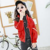 拉條女童外套中大童新款兒童秋裝7473『CR水晶鞋坊』