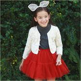 蕾絲短版外套 女童 典雅 氣質 薄外套 罩衫 Augelute 53001