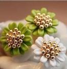 小雛菊造型耳環 (2色) 一對160元 情人節禮物【Vogues唯格思】B032