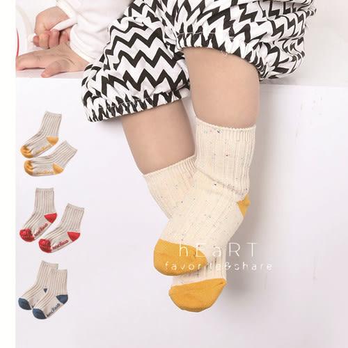 點點紗羅紋拼色止滑短襪 童襪 止滑襪 短襪