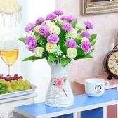 仿真假花 客廳臥室內擺設塑料花卉套裝飾品茶幾餐桌干花束盆栽擺件WY 快速出貨