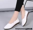 FINDSENSE品牌 四季款 新款 日本 女 高品質 個性 百搭 真皮 舒適