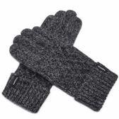 羊毛針織觸控手套-加厚手工擰花商務防寒保暖男手套72q1[巴黎精品]