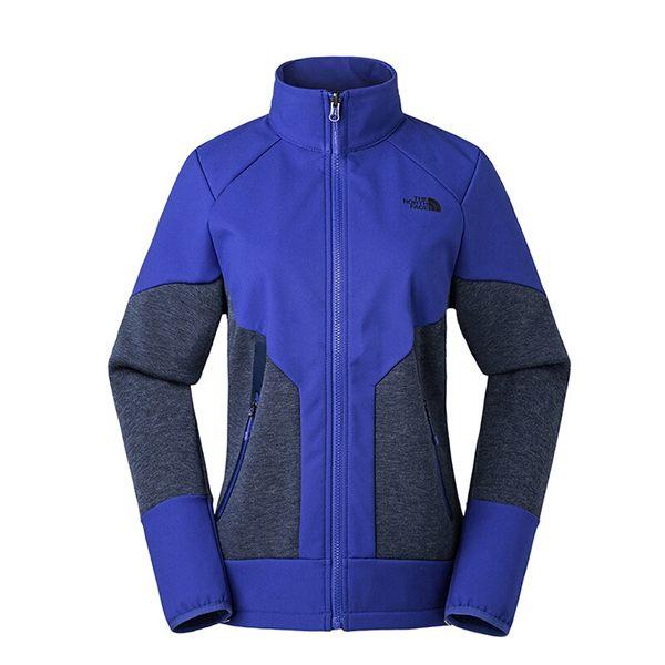 【THE NORTH FACE 美國】女 連帽軟殼刷毛外套『方鈉石藍』NF0A3L9E 保暖外套 兩件式外套 GORE-TEX