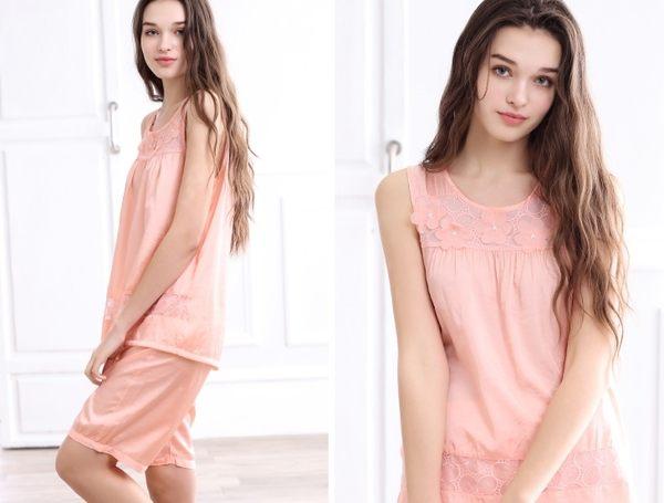 夏季新品純棉睡衣女甜美家居服全棉休閒夏天薄款套裝 -swe0025