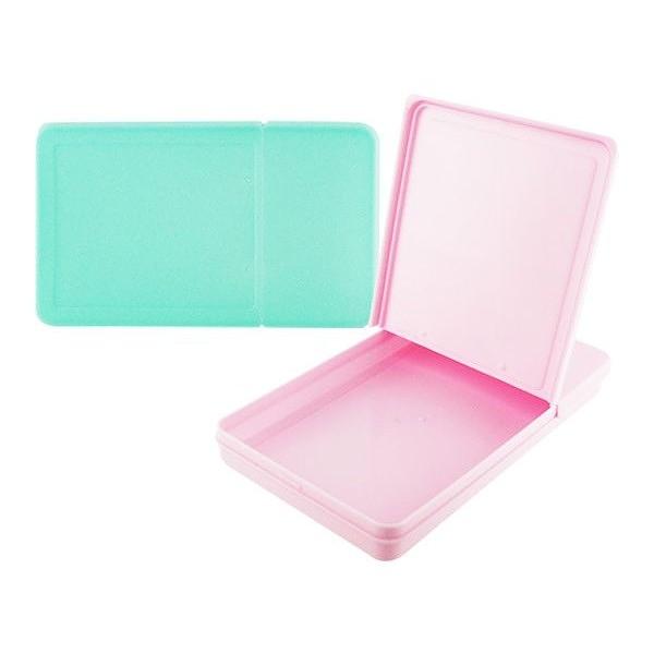 雙開式平面口罩收納盒(1入) 顏色隨機出貨【小三美日】