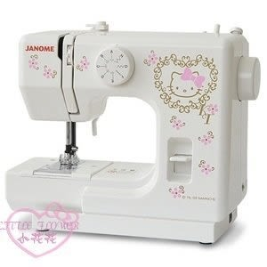 ♥小花花日本精品♥hello kitty 凱蒂貓 Janome 縫紉機裁縫機 居家生活裁縫衣 白色 56875904