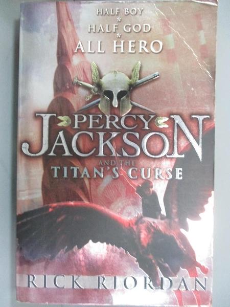 【書寶二手書T1/原文小說_IEE】Percy Jackson and the Titans Curse 波西傑克遜與巨神的詛咒_里克·里奧丹